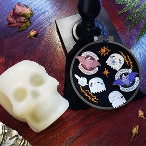 "1.25"" Soft Enamel Ghost Pins - My Boo and Sad Boi"